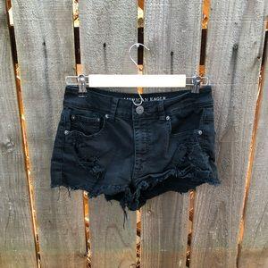 American Eagle Black Women's jean Shorts